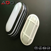 Black White PP ABS 20W IP65 2000LM Oval Shape Bathroom Light Bulkhead LED Lamp Manufactures