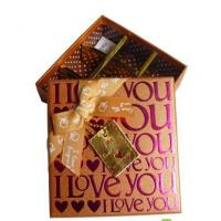 10 * 10 * 4 Inch Gold Stamping Paperboard Chocolate Packaging Box With Taps Manufactures
