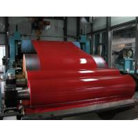 ASTM DX51D 0.25mm thickness 650mm width 90g zinc coating polyester normal Bright Red Galvalume Steel Coil Manufactures