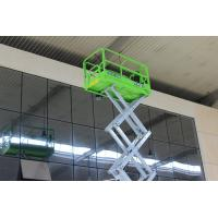 Working Height 10m Hydraulic Scissor Lift 0/2.1m Turning Radius Inside / Outside Manufactures