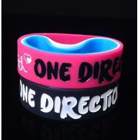 One Direction Debossed and colorfilled in silicone bracelets wristband Manufactures