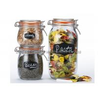 Airtight 3 piece glass canister set / glass jar set for kitchen FDA / SGS / BV eco-friendly Manufactures