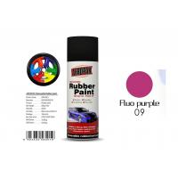 Multi - Purpose Removable Rubber Spray Paint Fluo Purple For Wheel Color Change Manufactures