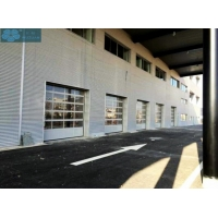 Aluminium Frame Glass Panel Commercial Sectional Doors For Showroom Manufactures