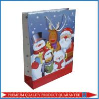 Christmas Theme Paper Gift Bag with Custom Color Artwork Printing Manufactures