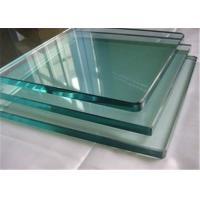 8mm Thickness Tempered Safety Glass / Toughened Glass Cut To Size Polished Edges Manufactures