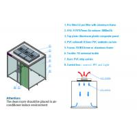 PVC Curtain ISO 8 Softwall Modular Clean Room / Clean Booth With Fan Filter Unit