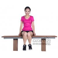 outdoor fitness equipment High quanlity outdoor wooden fitness bench Manufactures