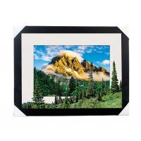 Eco-friendly 30x40CM 5D Lenticular Printing Services With PS Black Frame For Home / Hotel Manufactures