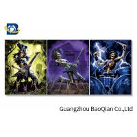Picture With Playing Skull , Flippped Changing Lenticular 3d Image Manufactures