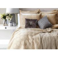 100% Cotton Waves Embroidered Full Size Bed Sets Real Simple 4 Pcs For Home Manufactures