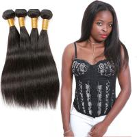 Unprocessed Straight Remy Human Hair Weave Natural Black Color Thick Bottom Manufactures