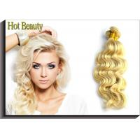 Hot Beauty Russian Virgin Human Hair Extensions Body Wave Remy Hair Weft Color 613 Manufactures