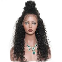 Glam 180 Density Brazilian Virgin Full Lace Human Hair Wigs With Baby Hair Manufactures
