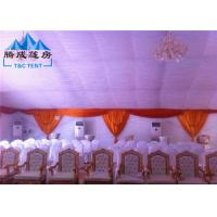 Quality 20m Width Fire Retardant A Shaped White Wedding Event Tents / Outdoor Wedding Reception Tent for sale