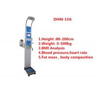 Medical BMI Coin operated body fat Composition height weight measuring machine with printing and blood pressure Manufactures