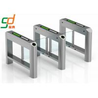 Blue Wing Automatic Turnstiles Single Or Dual Passage Swing Barrier Gate Manufactures