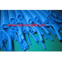 TPU Recoil air hose tube with NPT  fitting for compressed air system,blue color, yellow color Manufactures