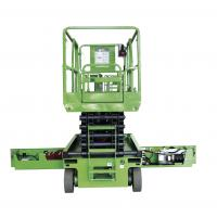 Quality Green 10m Self Propelled Scissor Lift With Hydraulic Motor Driving for sale