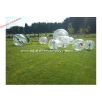 Clear TPU Human Inflatable Bumper Bubble Ball Soccer Rental With Soft Handle Manufactures