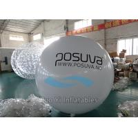Giant Printed Helium Balloons Scratchproof White Spheres With Logo Printing Manufactures
