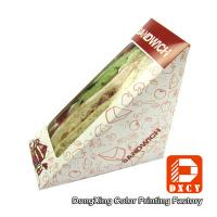 Quality Innovative Eco Friendly Paper Food Boxes , Triangle Sandwich Packaging Box for sale