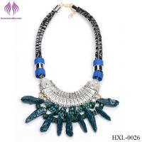 Fashion exaggeration Imitation stone irregular geometric necklace Manufactures