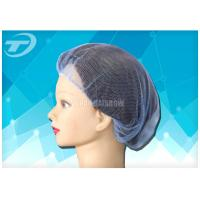 Single use nylon hairnet  20 , soft and breathable , white , black and blue color