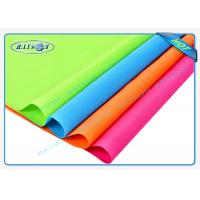 Red Orange Colorful PP Spunbond Non Woven Fabric Shopping Bag Making Material Manufactures