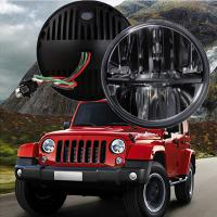 "60W 7"" Fog Jeep LED Headlights With Hi / Lo H4 Or H13 For Wrangler JK Manufactures"
