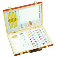 Professional Childrens Art Set Wooden Box , Durable Artist Acrylic Paint Box Set Manufactures