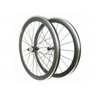 Quality Carbon Alloy Clincher Wheelset , R36 Hub Carbon Wheels With Alloy Braking for sale