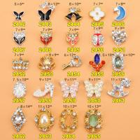 Hot NEW Wholesale Alloy Jewelry 3D Nail Art Jewelry Nail rhinestones Sticker Supplier Number ML2442-2465 Manufactures