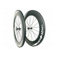 Buy cheap 28inch Wheel Bicycle Toray 88MM Road Bike High Profile Carbon Wheels Powerway from wholesalers