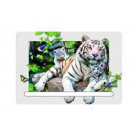 0.6mm Pet 5d Attractive White Tiger 7x11cm Magnets With Notepad  For Refrigerator Manufactures