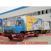 4*4 off road all wheels drive cold room truck, dongfeng 4 wheels driving refrigerated truck for pork and beet for sale Manufactures