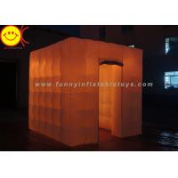 Colorful LED Cube Inflatable Advertising Portable Photo Booth for Outdoor Manufactures