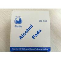 Medical Use Sterile Alcohol Pads Saturated With 70% Lsopropyl Alcohol Manufactures