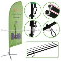 Custom Full Color Feather Flags And Banners Digital Printing Wind Banner Flags Manufactures