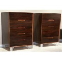 Buy cheap Modern Vertical Storage Cabinet With 5 Drawers , Popular Walnut Wooden Cabinet from wholesalers