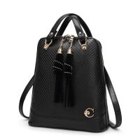 27 * 30 * 12 Cm Fashion Ladies Backpack Tassel Decoration With Premium PU Leather Manufactures