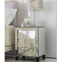 Cant Three Drawers Mirror Night Stand Cabinet Table for Bedroom Furniture Manufactures