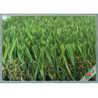 Anti Color Fading Outdoor / Indoor Artificial Grass Great Weather Adaptability Manufactures
