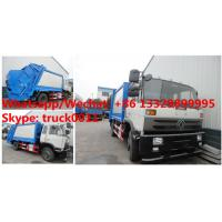 Wholesale bottom price customized dongfeng 4*2 RHD 190hp Euro 3 14m3 compression garbage truck, garbage compactor truck Manufactures
