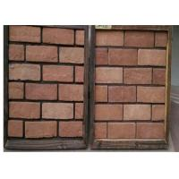 Customized Exterior Faux Brick Panels , Thin Brick Veneer For Fireplace / TV Walls Decration Manufactures