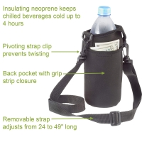 Insulated Neoprene Water Bottle Holder With Adjustable Strap Manufactures