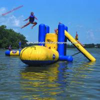 Outdoor Large Inflatable Water Toys With Climb , Slide And Launch Bag Manufactures