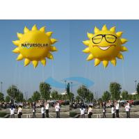 Smile Sun Flying Custom Inflatable Balloons Air Advertising With 5M Tether Line Manufactures
