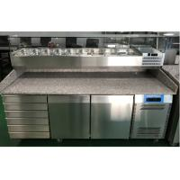 2 Door and 6 Drawer Commercial Refrigerated Pizza Prep Table With Marble Table Top Manufactures