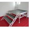 Portative Aluminum Stage Platform Performance Show Folding Stage 18mm Black Manufactures